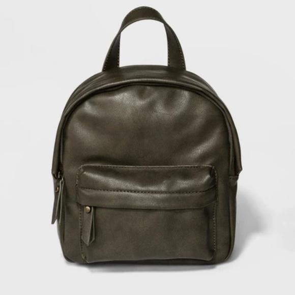 fresh styles 61d83 7f10e olive green mini backpack - peoplenpolitics.com 942a982791346